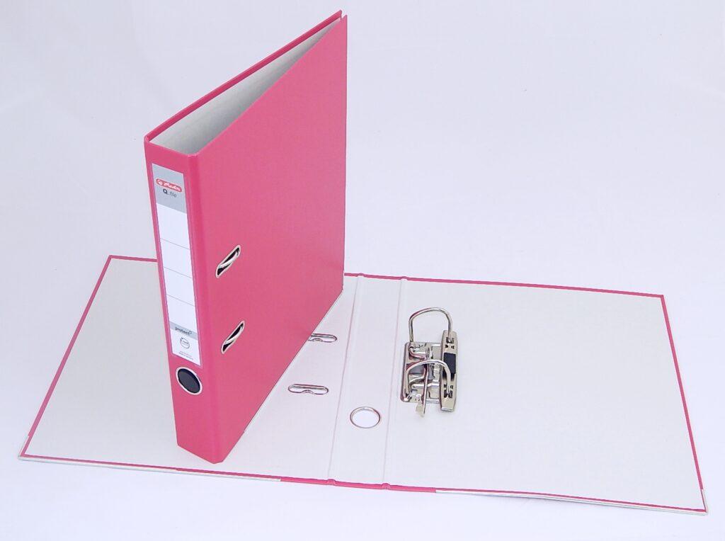 Pořadač A4 5cm PP růž., Q.file /11356524/