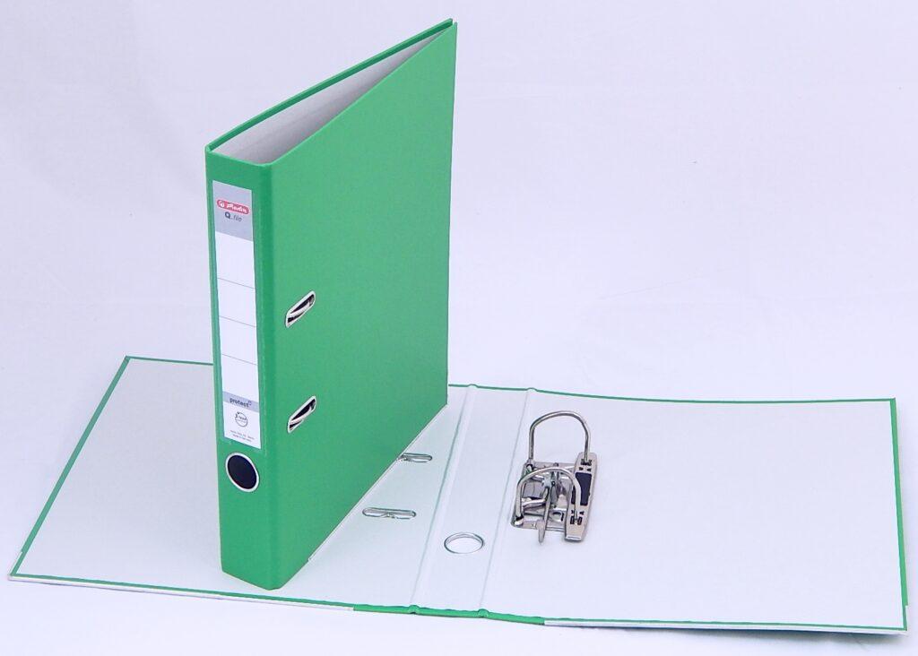 Pořadač A4 5cm PP sv.zel., Q.file /11356516/