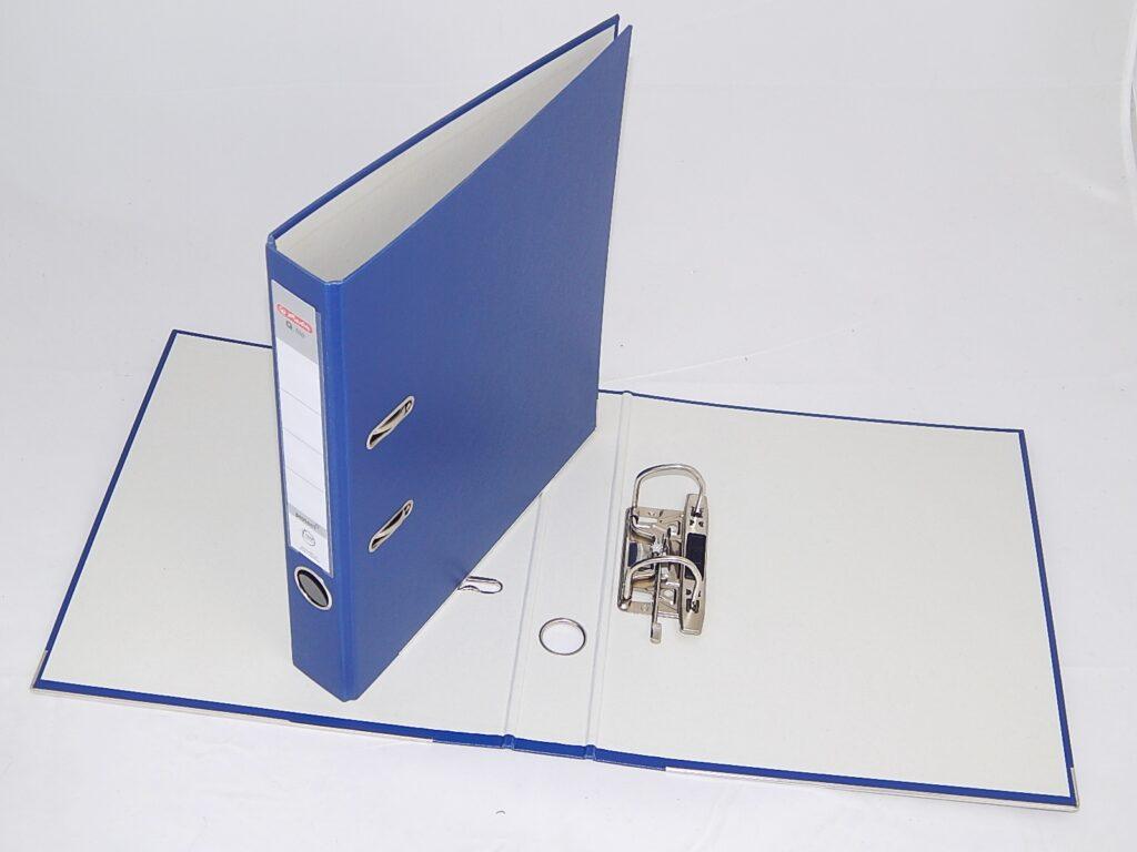 Pořadač A4/5cm Q.file PP pákový modrý / 11167483 /