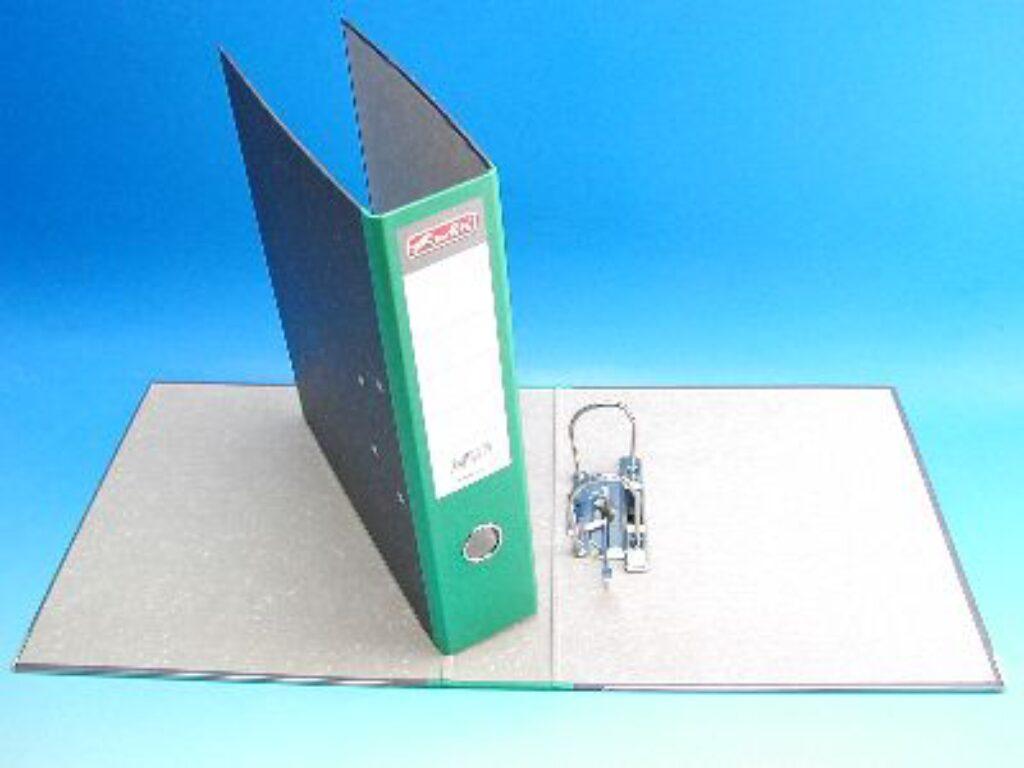 Pořadač A4 pákový 7,5cm mramor zelený