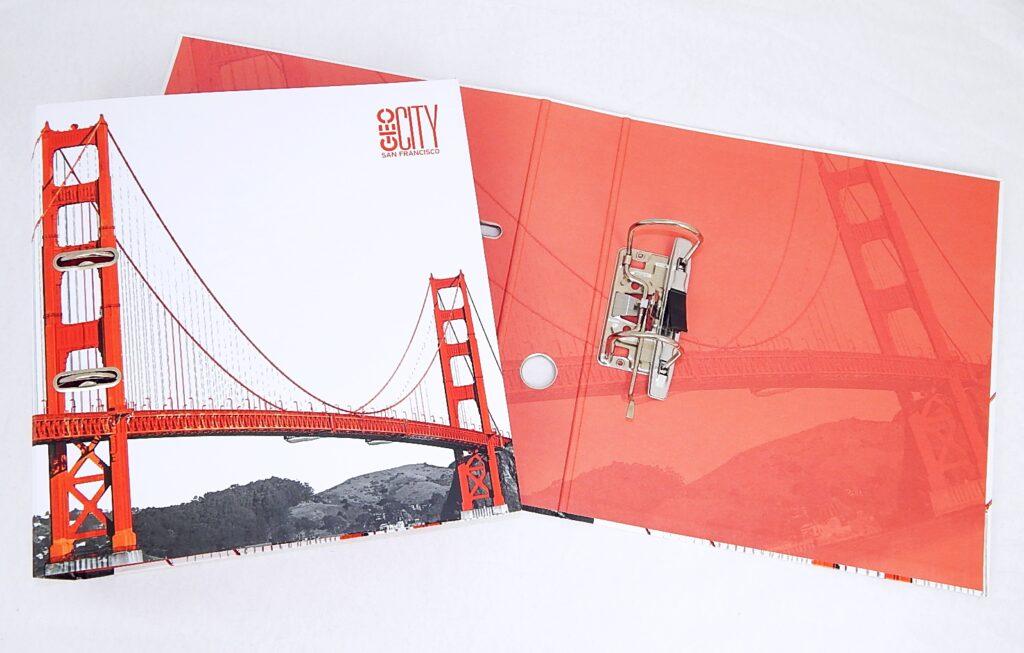 Pořadač pákový A4 LIZZY 7,5 cm Geo City San Francisco