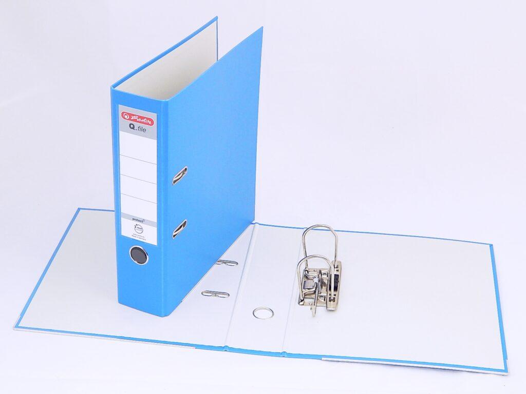 Pořadač A4 8cm PP aqua, Q.file /11178936/