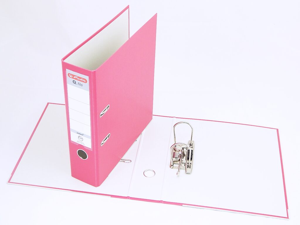 Pořadač A4 8cm PP růž., Q.file /11342730/