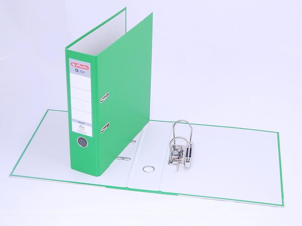 Pořadač A4 8cm PP sv.zel., Q.file /11342722/