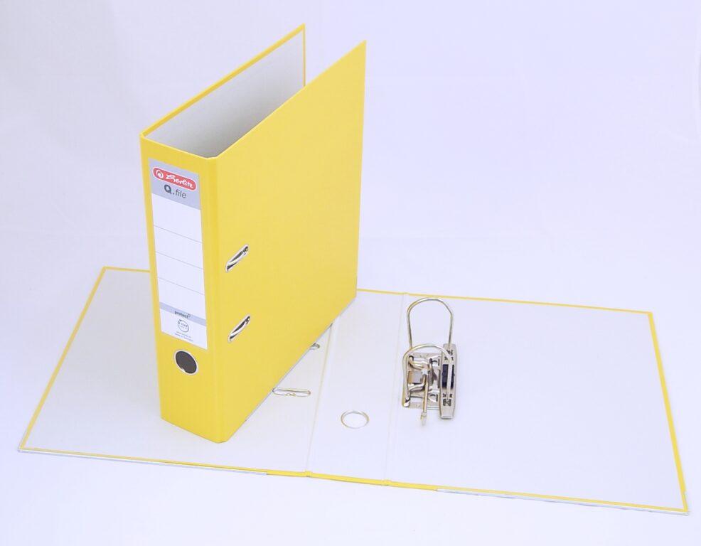 Pořadač A4 8cm PP žlutý, Q.file /11167442/