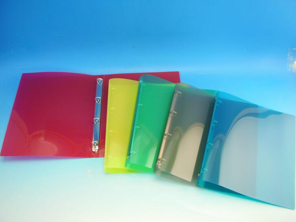Pořadač A4 4-kr. průhledný mix barev 496336