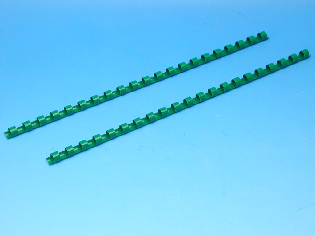 Hřeben 8 zelený pro kroužk.vazbu