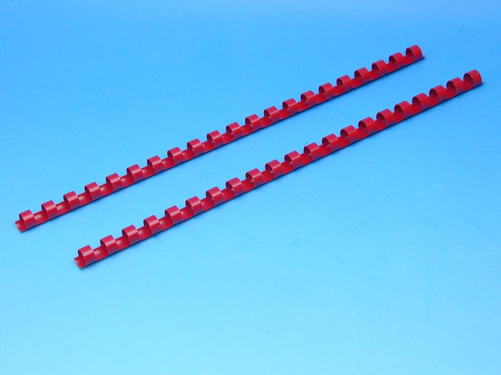 Hřeben 10 červený pro kroužk.vazbu