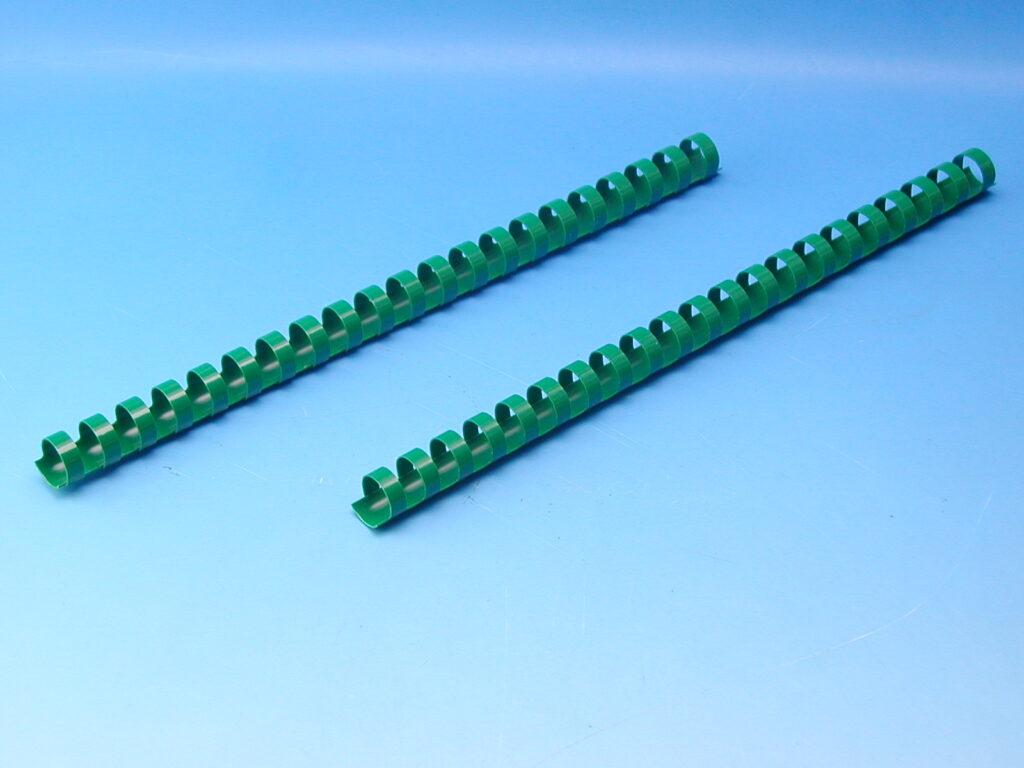 Hřeben 16 zelený pro kroužk.vazbu
