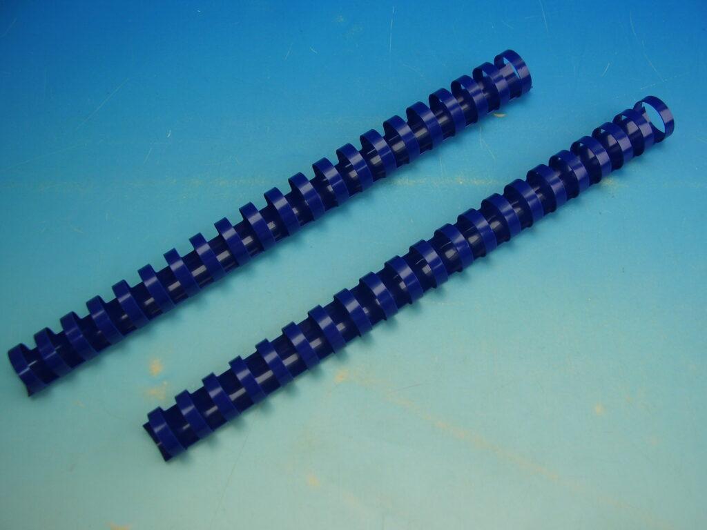 Hřeben 22 modrý pro krouž. vazbu