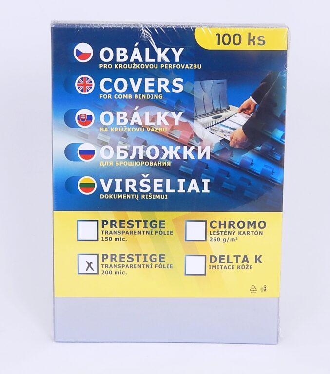 Obálka PRESTIGE A4 Transp. 200mic/100ks