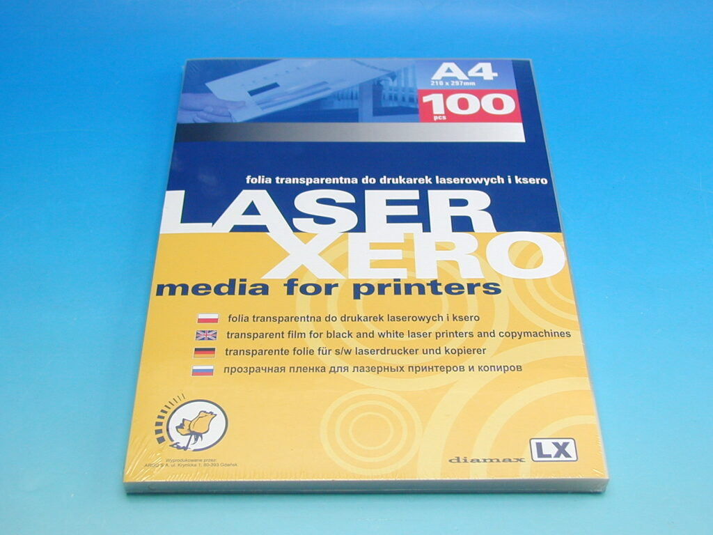 Folie projekční LASER XERO-LX A4