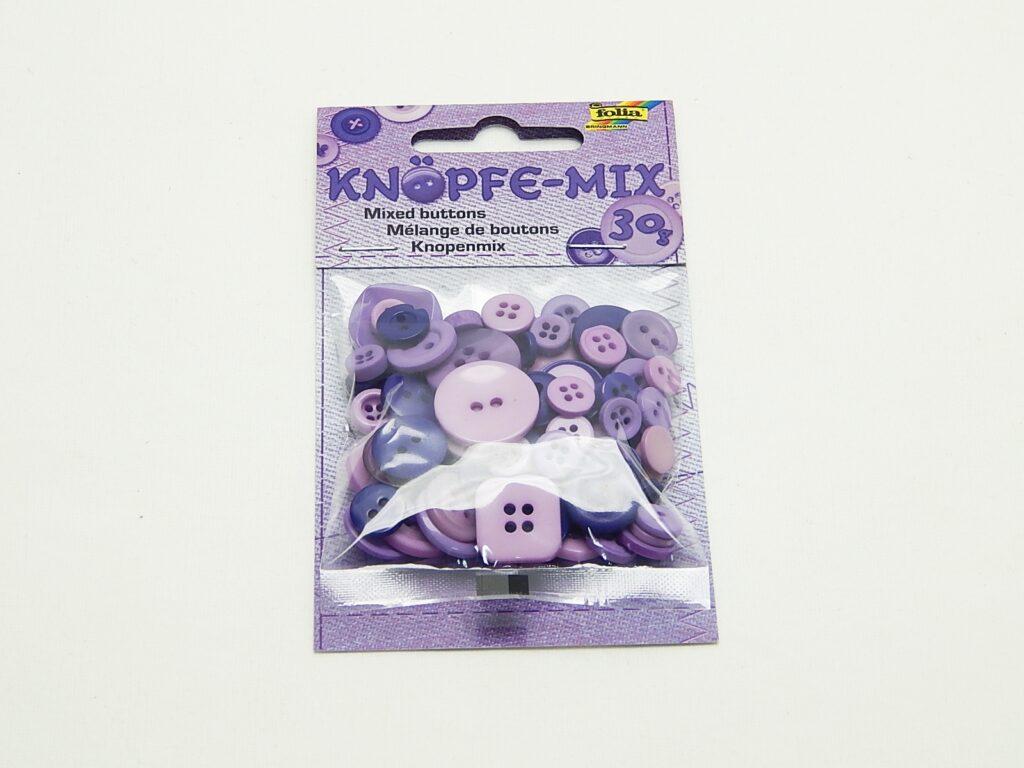 Knoflík fialový 30g  / 12893/