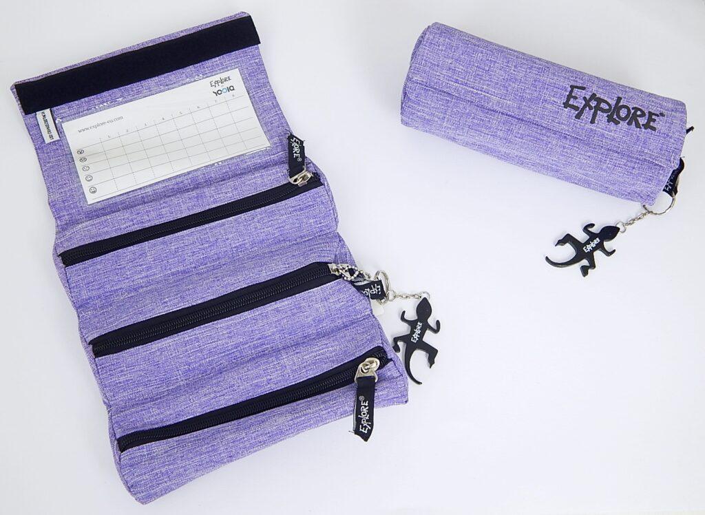 Penál ROLLL purple P-1701-3-1.G19