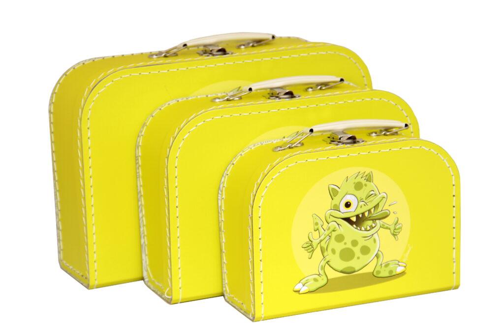 Kufřík Příšerky - žlutá sada /7679548-3101/