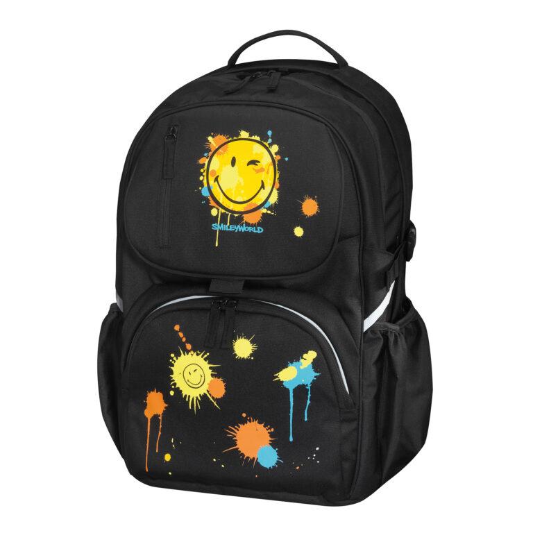 Batoh školní be.bag cube-SmileyWorld 11350725