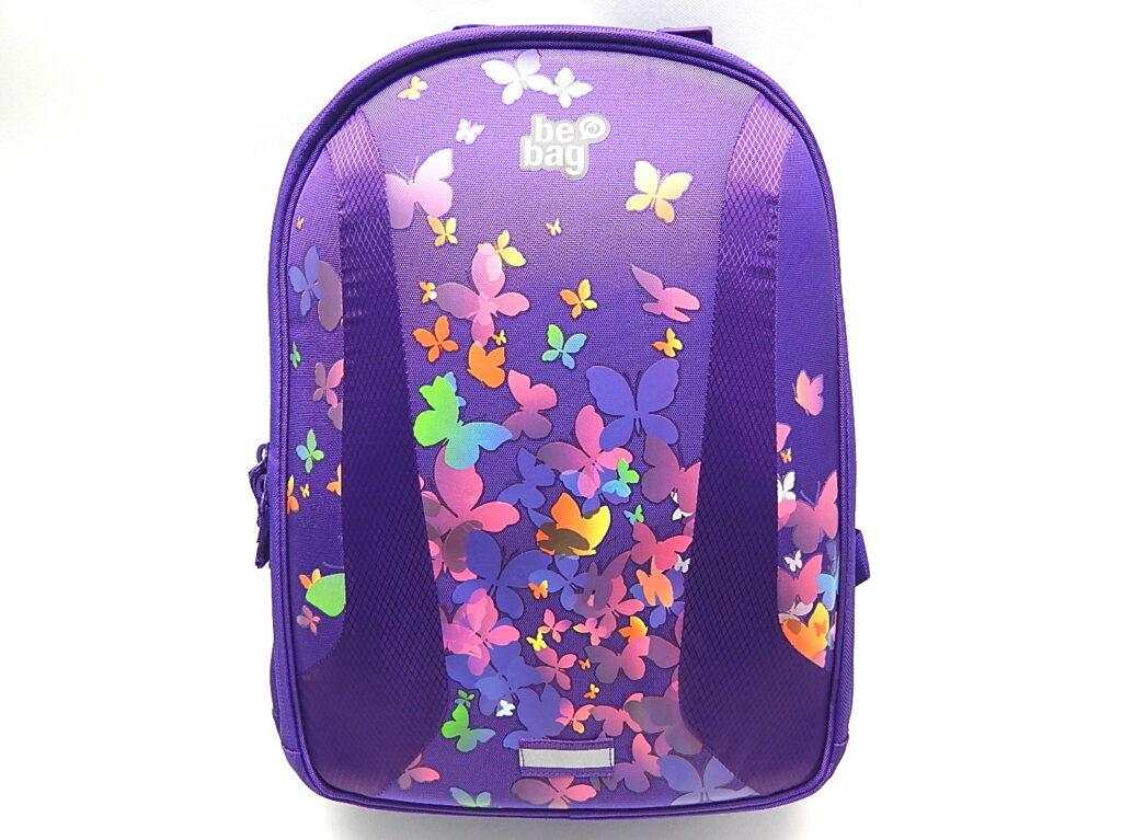 Batoh školní be.bag airgo motýl fialo 11350550