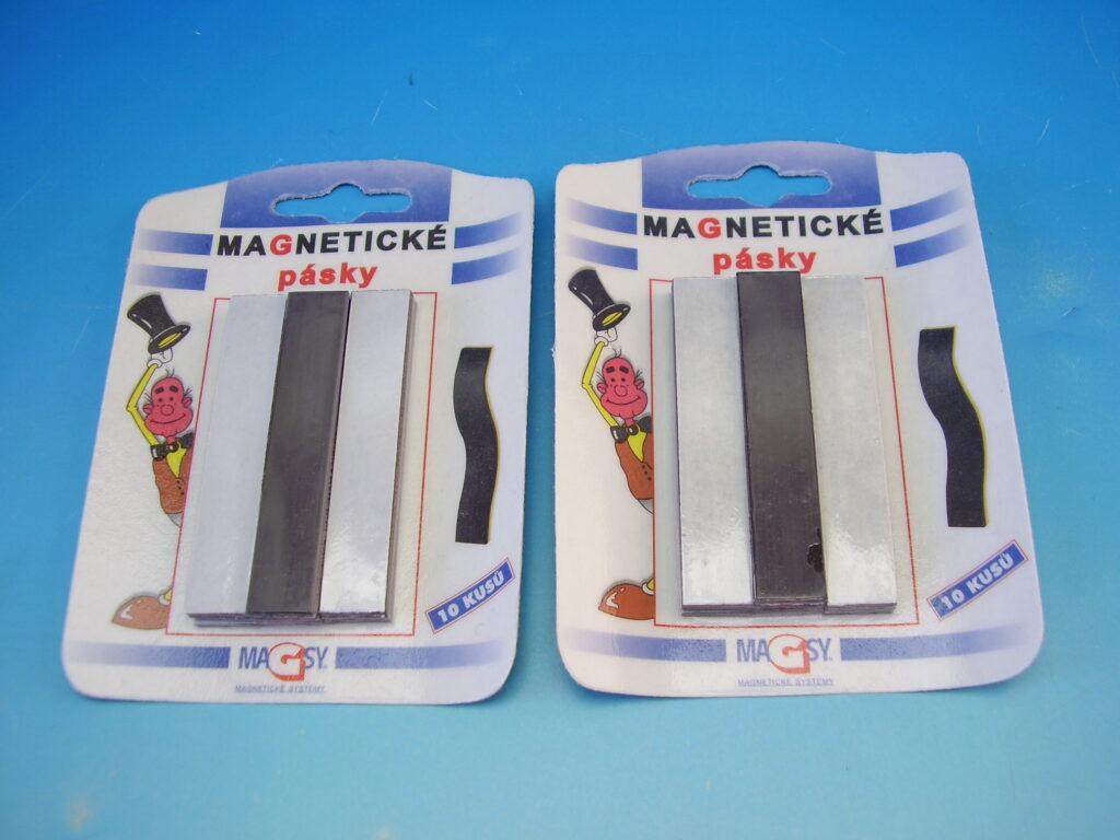Pásky magnetické 1,5x8cm/10 ks blistr