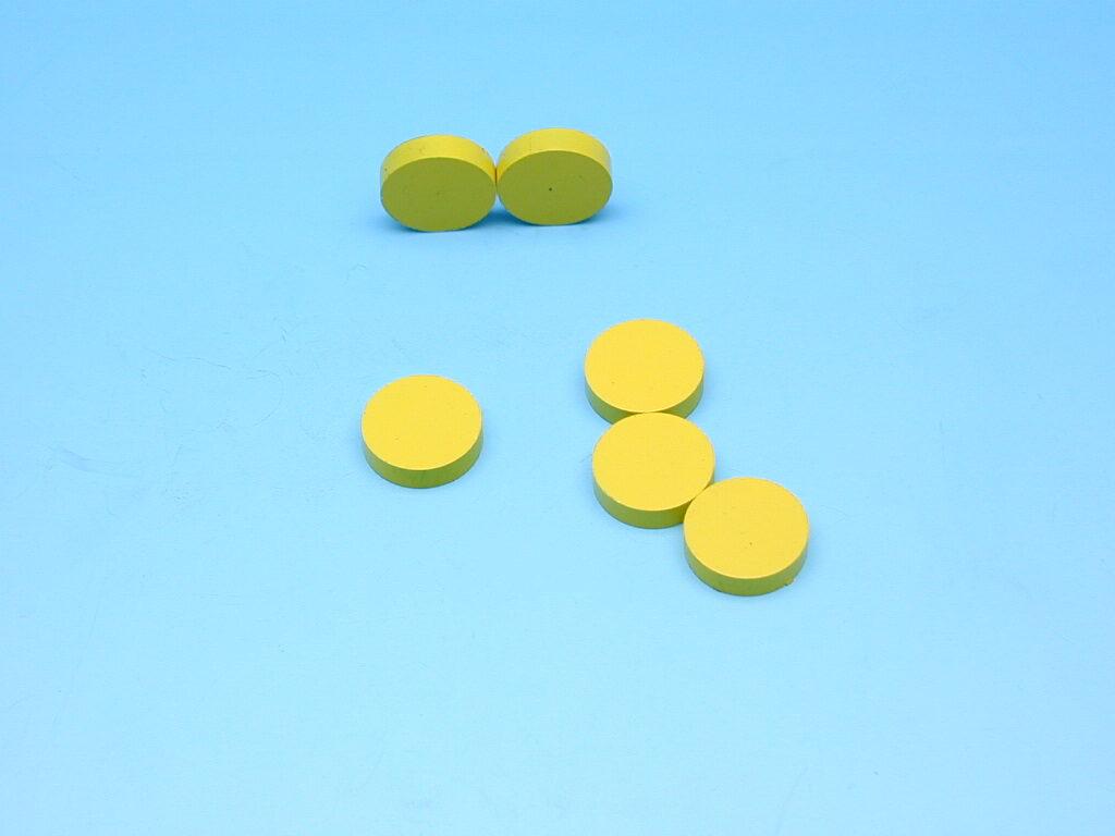 Magnet žlutý průměr 2cm