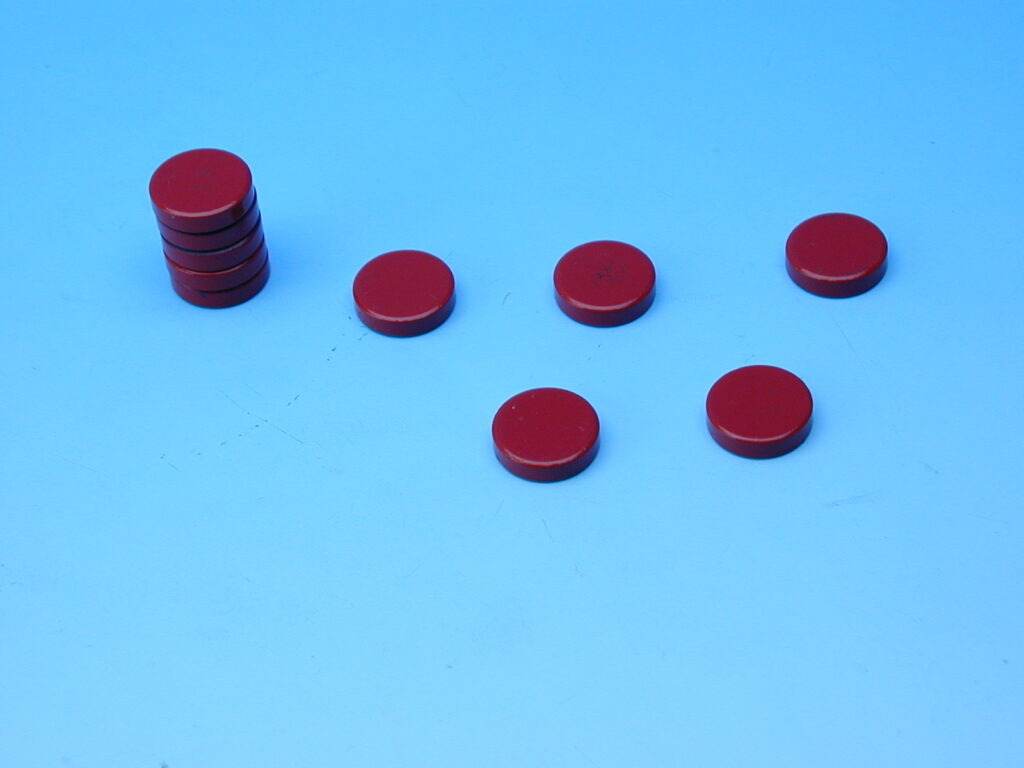 Magnet červený průměr 2cm