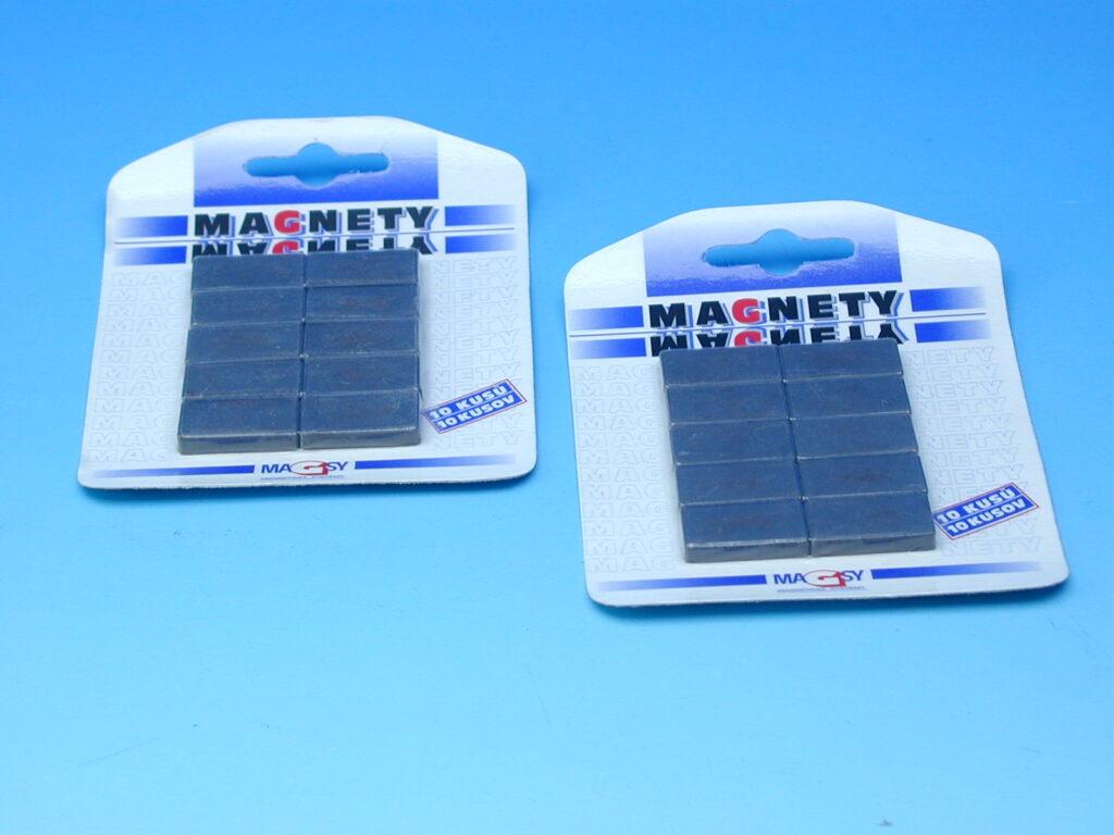 Magnet MAGSY/10ks obdélníky šedé