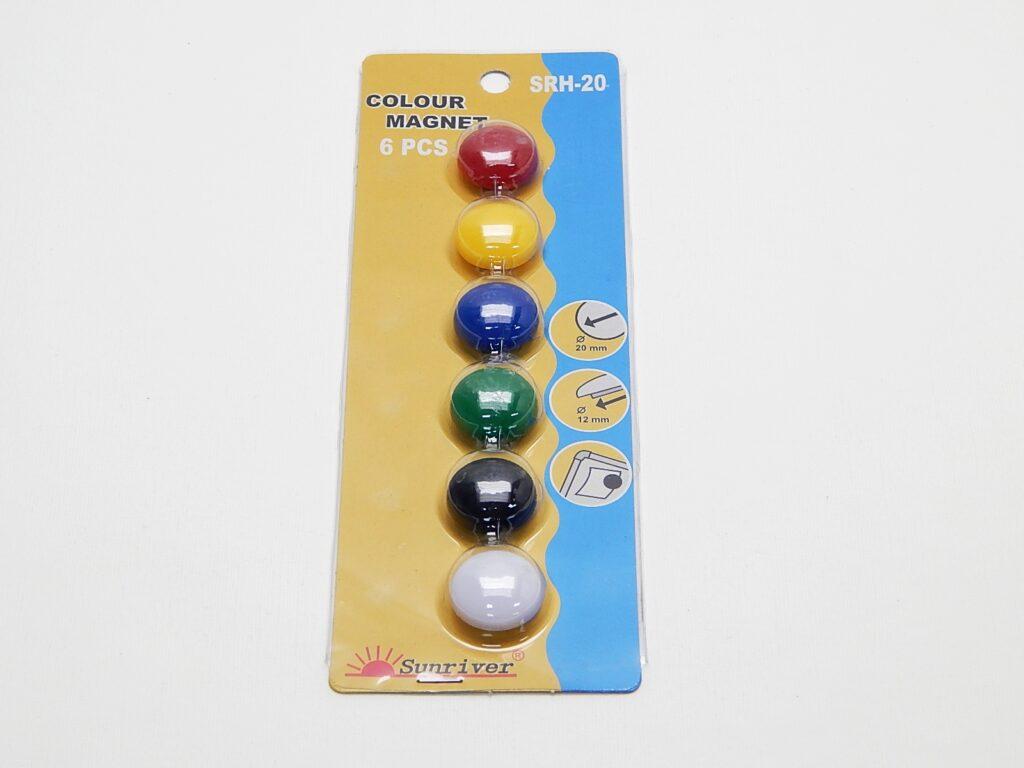 Magnety WF pr. 20mm (6ks) barevné
