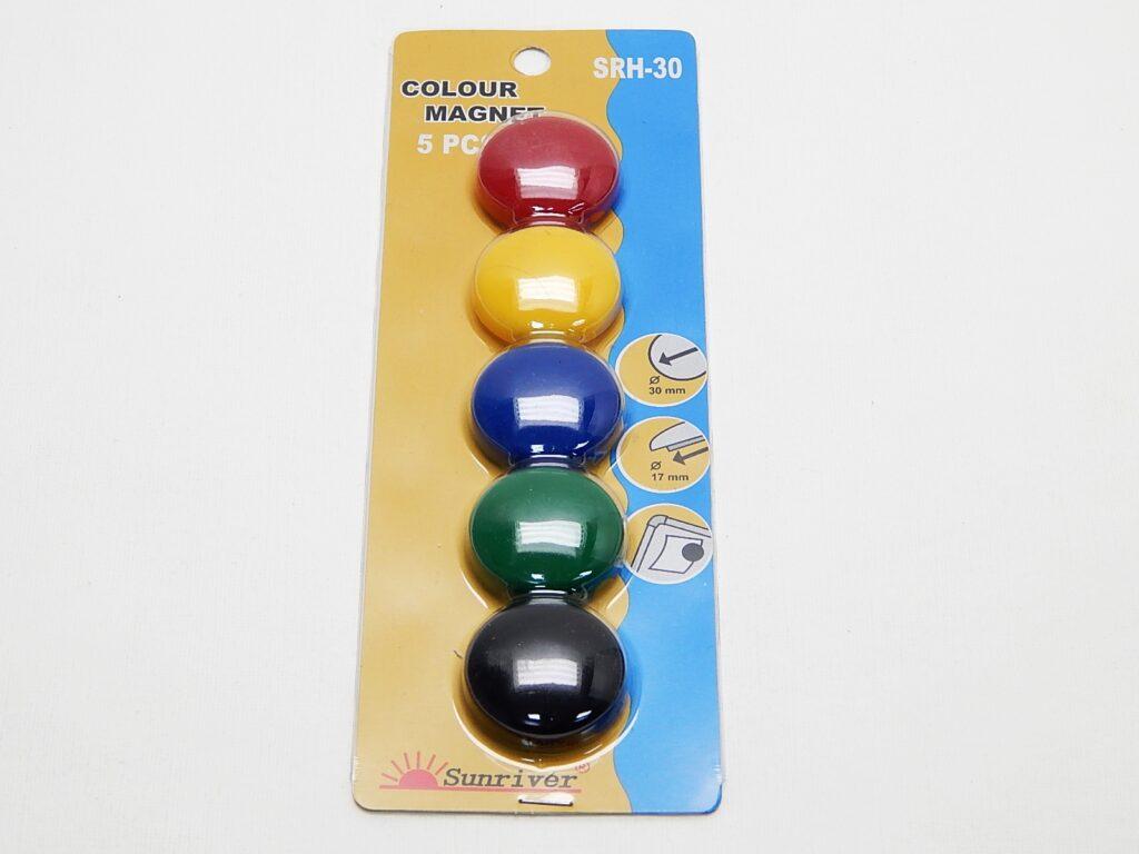 Magnety WF pr. 30mm (5ks) barevné