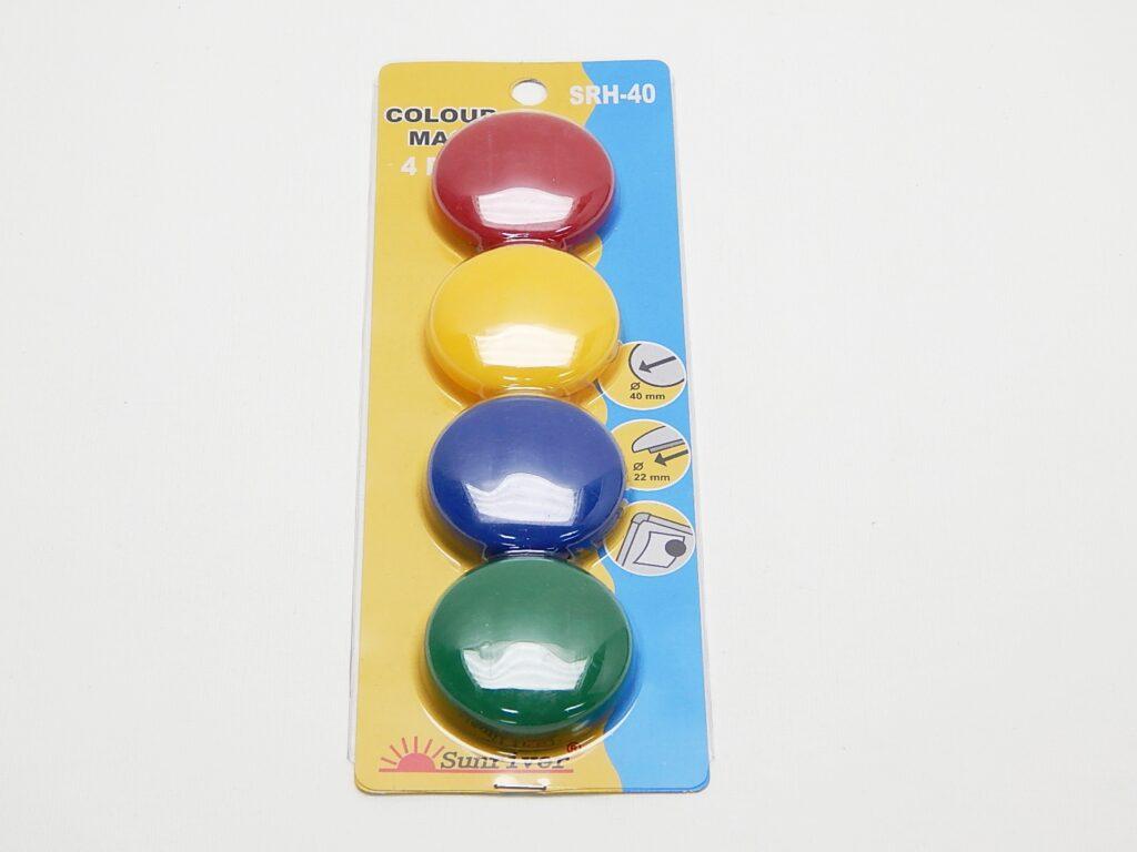 Magnety WF pr. 40mm (4ks) barevné