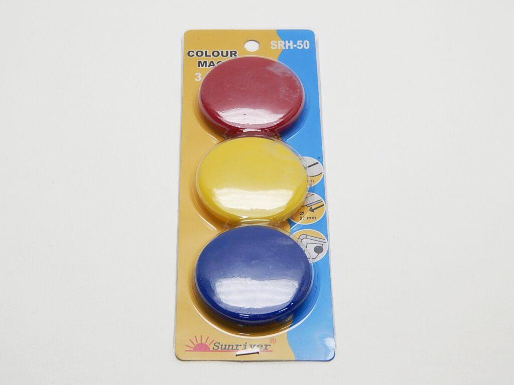 Magnety WF pr. 50mm (3ks) barevné