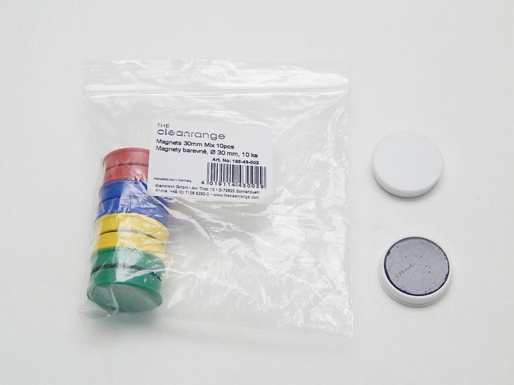 Magnety KL pr. 30mm (10ks) barevné