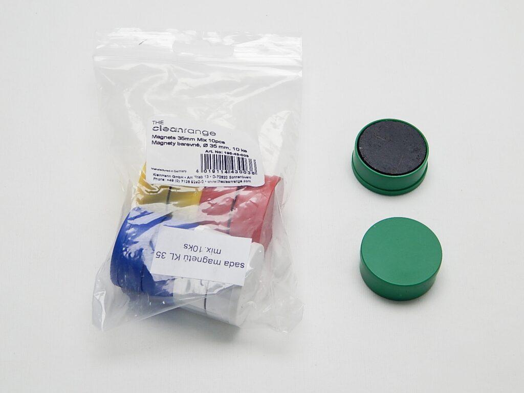 Magnety KL pr. 35mm (10ks) barevné