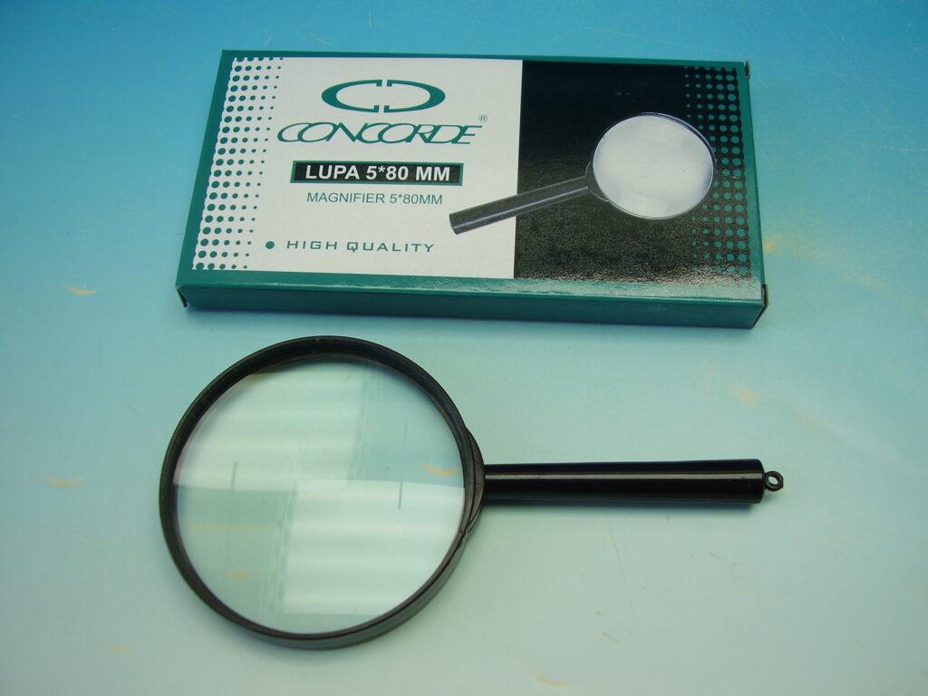 Lupa 1216 plastová obruba 5,5x80mm