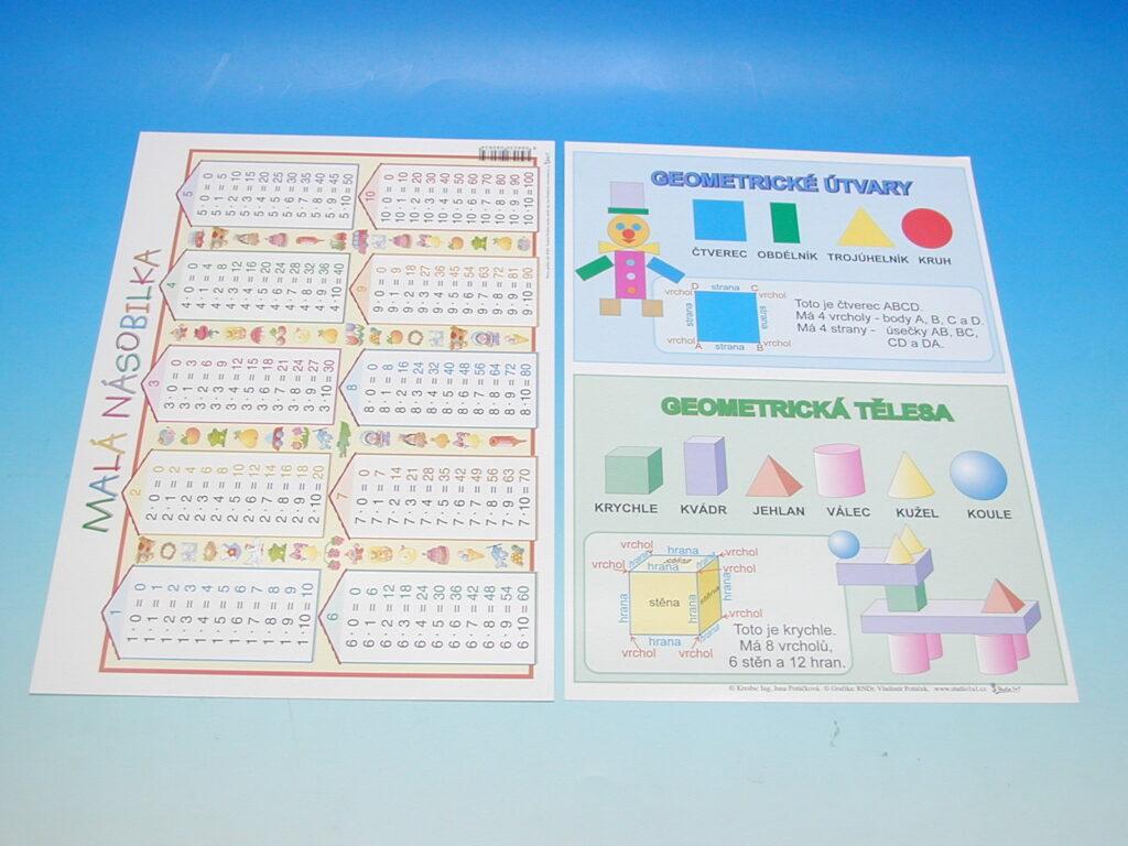 Tabulka NÁSOBILKA/GEOM.TVARY A4