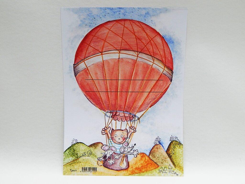 Diplom dětský A4 Zvířátka v balónu