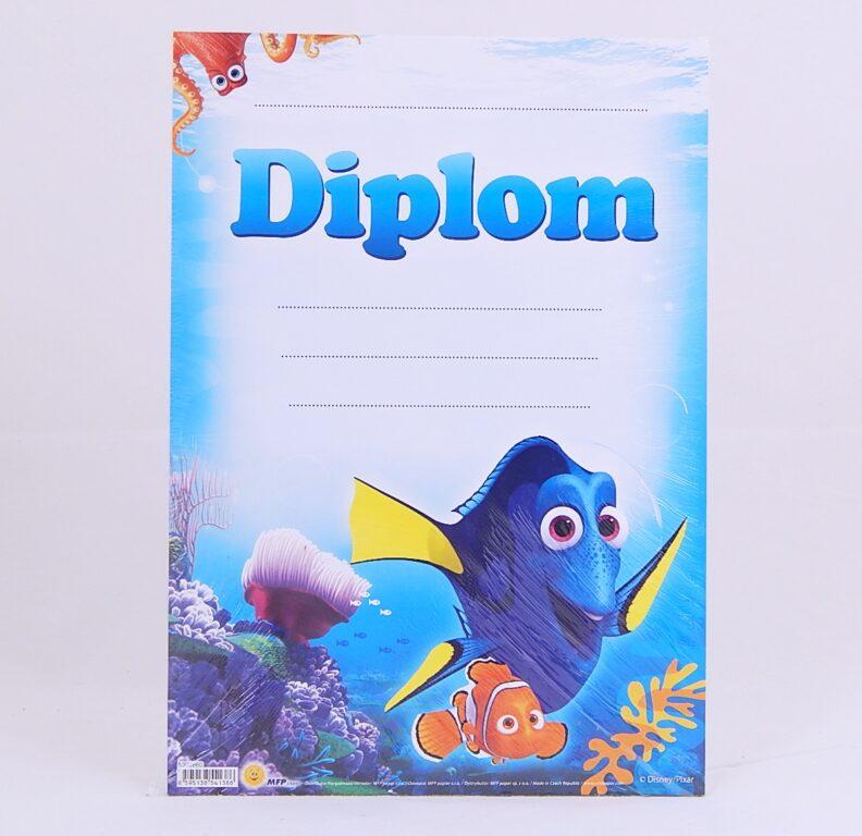 Diplom dětský A4 Hledá se Nemo /5300860/