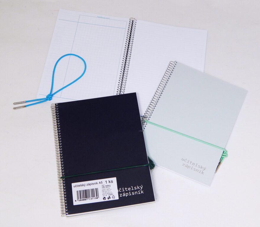 Zápisník učitelský A5, 54 listů, boční spirála