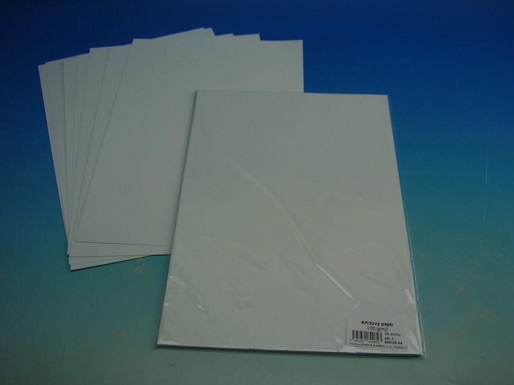 Papír křídový A4 200g bílý 600106