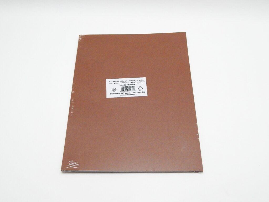 Karton kreslící A4/20ks hnědý 170g