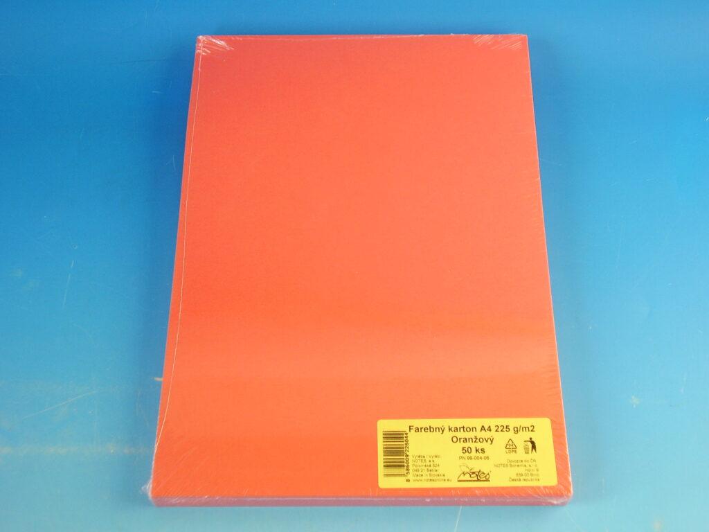 Karton kreslící A4/225gr/50 oranžový