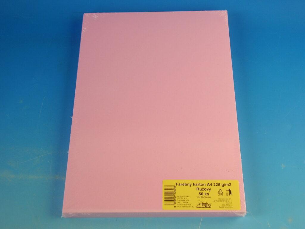 Karton kreslící A4/225gr/50 růžový