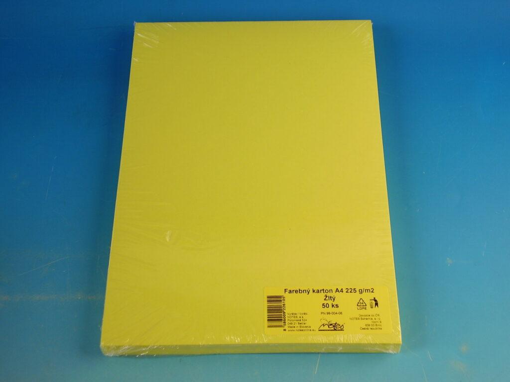Karton kreslící A4/225 gr/50 žlutý