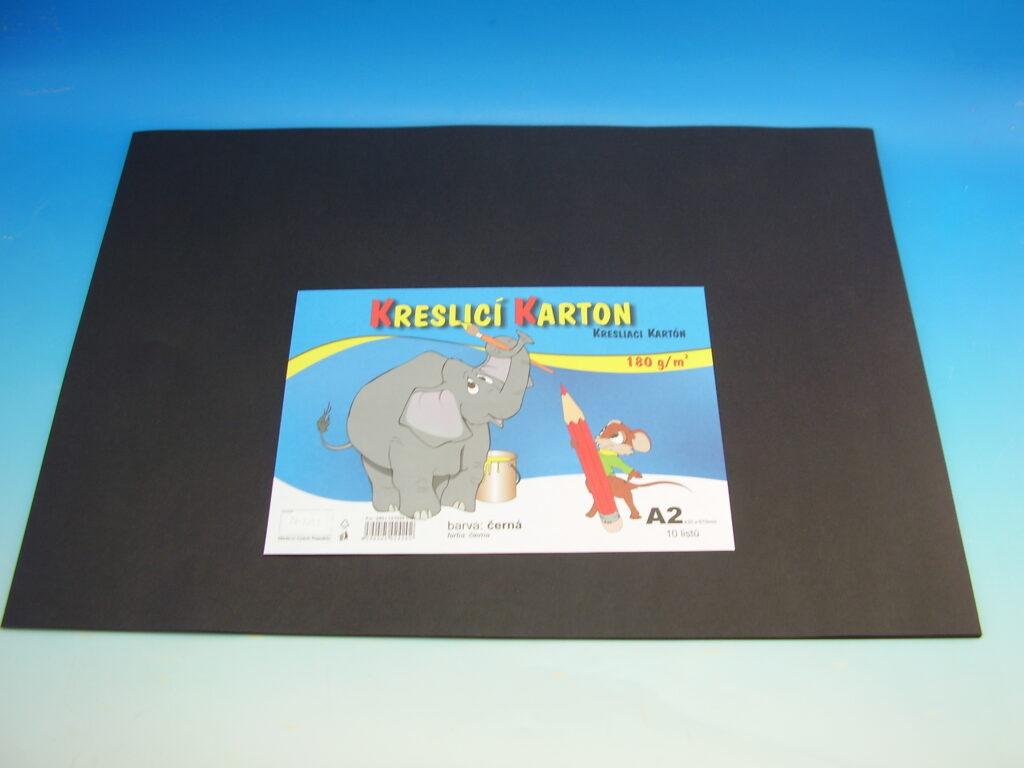 Karton kreslící A2/10ks ČERNÝ 180g