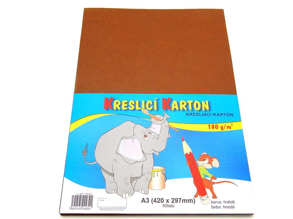 Karton kreslící A3/180g,hnědá / bal