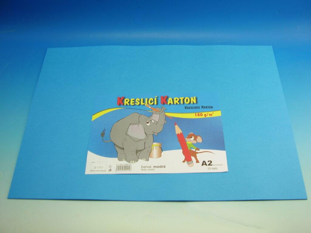 Karton kreslící A2/10ks MODRÝ 180g / ks