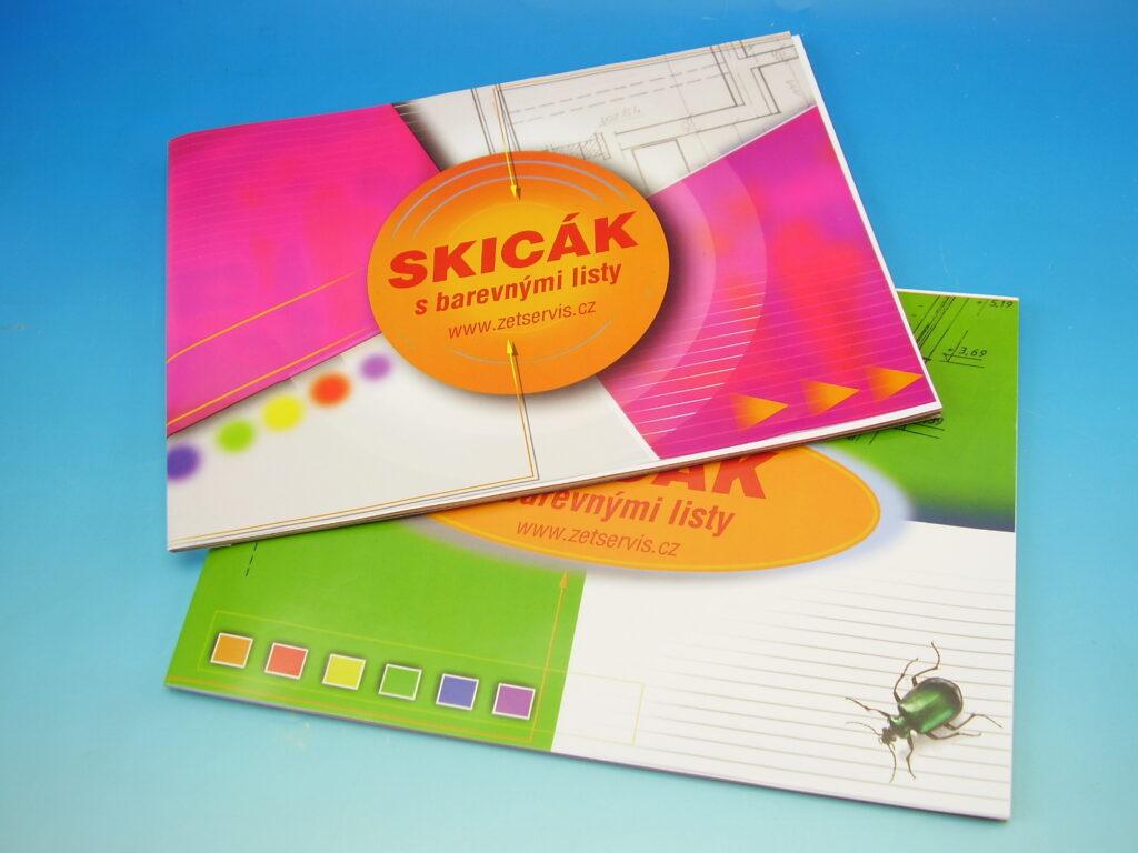 Skicák A4 barevný 10listů