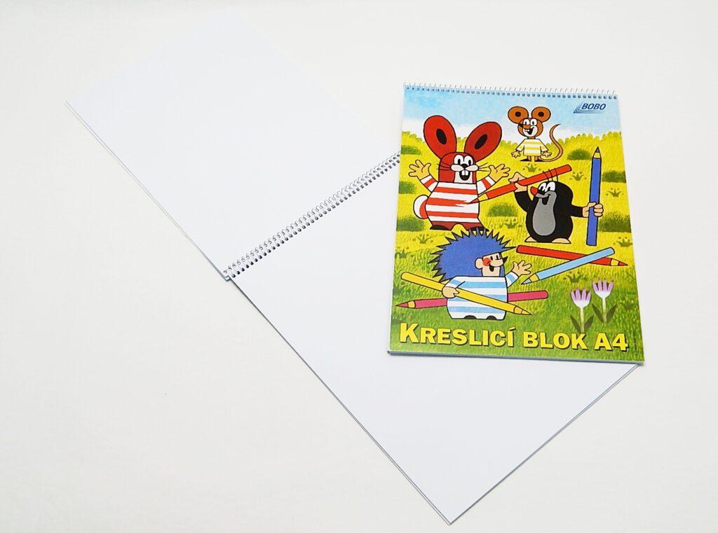 Blok kreslící KRTEK A4, čistý  19455