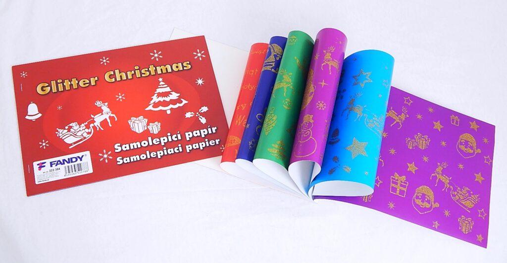 Samolepicí papíry Glitter Christmas /223384