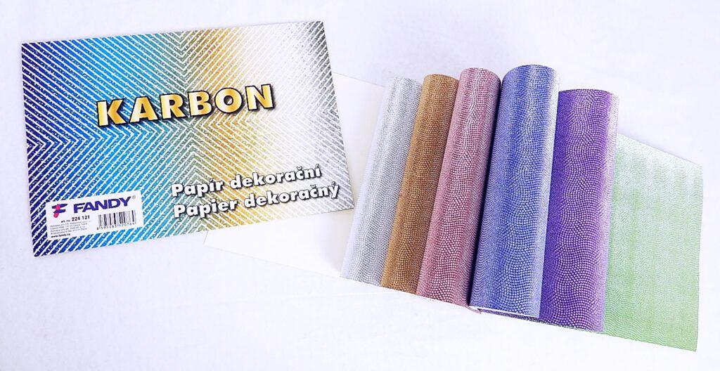 Papír dekorační Karbon / 224121