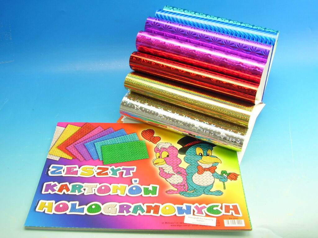 Blok barevných papírů A4 Holograf 8ks
