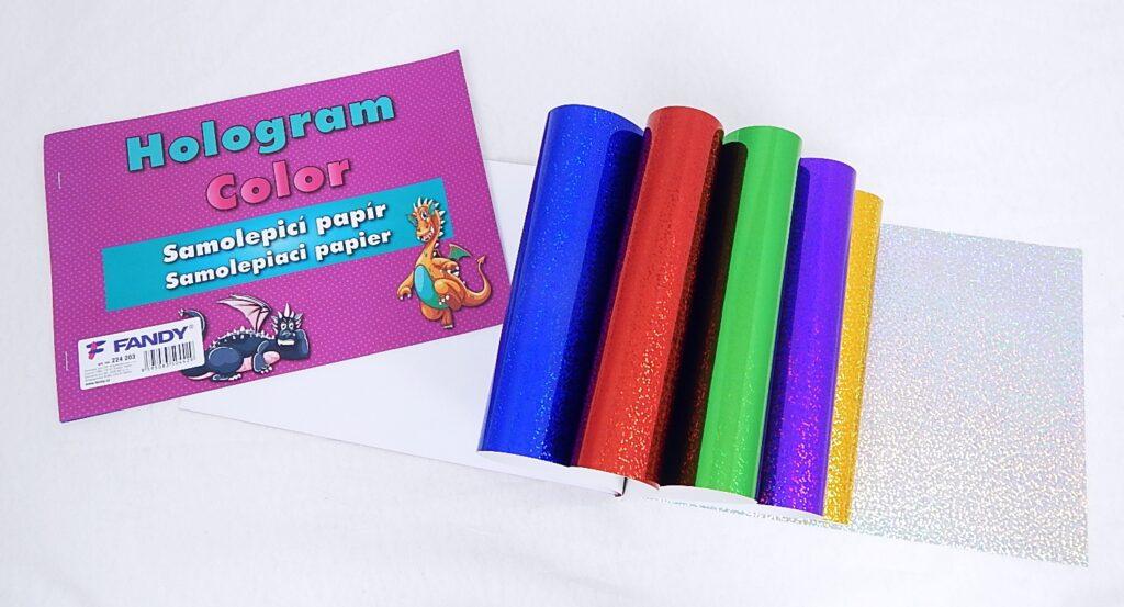 Samolepicí papíry Hologram Color / 224203